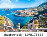 landscape with garachico town... | Shutterstock . vector #1298175685