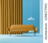 interior of minimalistic living ... | Shutterstock . vector #1298177092