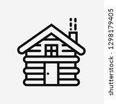 cabin home concept line icon....