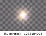 white glowing light explodes on ...   Shutterstock .eps vector #1298184025