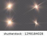 white glowing light explodes on ... | Shutterstock .eps vector #1298184028