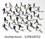crosstown traffic  crowd of... | Shutterstock . vector #129818552
