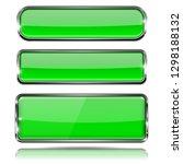 green glass 3d buttons with... | Shutterstock . vector #1298188132