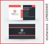 double sided horizontal... | Shutterstock .eps vector #1298203405