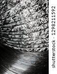 aluminum perforated foil pipe... | Shutterstock . vector #1298211592