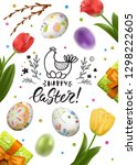 vector card with realistic 3d... | Shutterstock .eps vector #1298222605