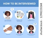 how to behave in a job...   Shutterstock .eps vector #1298223268