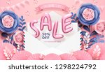 valentine's day with sale... | Shutterstock .eps vector #1298224792