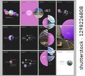 minimal brochure templates with ... | Shutterstock .eps vector #1298226808