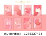saint valentine's day trendy... | Shutterstock .eps vector #1298227435