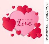 vintage valentine's day card... | Shutterstock .eps vector #1298227978