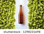 brown beer bottlle template on... | Shutterstock . vector #1298231698