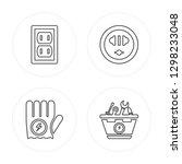 4 line socket  glove  socket ... | Shutterstock .eps vector #1298233048
