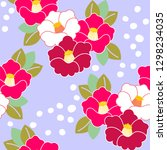 floral pattern. camellia.... | Shutterstock .eps vector #1298234035