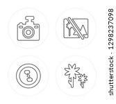 4 line compact camera  focus ... | Shutterstock .eps vector #1298237098
