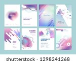 set of brochure  annual report  ... | Shutterstock .eps vector #1298241268