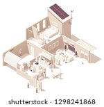 vector isometric house cross... | Shutterstock .eps vector #1298241868