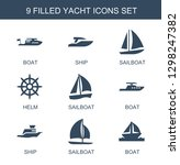 yacht icons. trendy 9 yacht... | Shutterstock .eps vector #1298247382