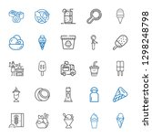 milk icons set. collection of... | Shutterstock .eps vector #1298248798