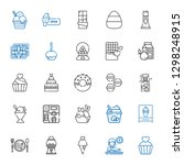 chocolate icons set. collection ... | Shutterstock .eps vector #1298248915