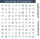 100 art icons. trendy art icons ... | Shutterstock .eps vector #1298250895