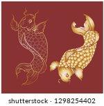 lucky chainese animal isolate... | Shutterstock .eps vector #1298254402