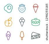 tasty icons. trendy 9 tasty... | Shutterstock .eps vector #1298255185