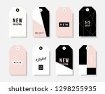 a set of eight modern and... | Shutterstock .eps vector #1298255935