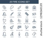fire icons. trendy 25 fire... | Shutterstock .eps vector #1298260135