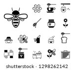 bees  honey   iconset  icons  | Shutterstock .eps vector #1298262142