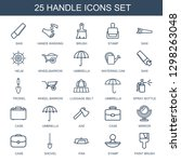 25 handle icons. trendy handle... | Shutterstock .eps vector #1298263048