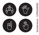 4 vector icon set   hip bone ... | Shutterstock .eps vector #1298268382