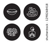 4 linear vector icon set  ... | Shutterstock .eps vector #1298268418