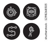 4 linear vector icon set  ... | Shutterstock .eps vector #1298268505