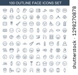 100 face icons. trendy face... | Shutterstock .eps vector #1298270878