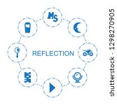 8 reflection icons. trendy... | Shutterstock .eps vector #1298270905
