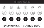 bridal icons set. collection of ... | Shutterstock .eps vector #1298271592