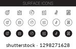 surface icons set. collection... | Shutterstock .eps vector #1298271628