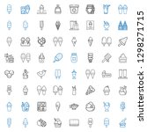 flavor icons set. collection of ... | Shutterstock .eps vector #1298271715