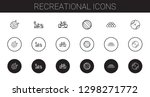 recreational icons set.... | Shutterstock .eps vector #1298271772