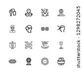 editable 16 reality icons for... | Shutterstock .eps vector #1298272045