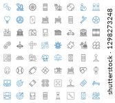 leisure icons set. collection... | Shutterstock .eps vector #1298273248