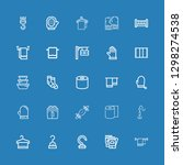 editable 25 hanging icons for... | Shutterstock .eps vector #1298274538
