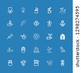 editable 25 flora icons for web ... | Shutterstock .eps vector #1298274595