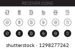 receiver icons set. collection... | Shutterstock .eps vector #1298277262