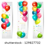 holiday banners with colorful... | Shutterstock .eps vector #129827732