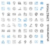 land icons set. collection of... | Shutterstock .eps vector #1298279545