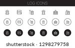 log icons set. collection of... | Shutterstock .eps vector #1298279758