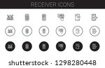 receiver icons set. collection... | Shutterstock .eps vector #1298280448