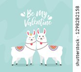 greeting card with two lovely... | Shutterstock .eps vector #1298282158